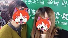 神田キャバクラ【ムーミン(mu-minn)】東京JK制服ラウンジ ちい 地元の後輩と写真